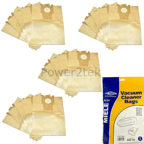 20 x Type G /& H Vacuum Cleaner Bags for Miele S5220 Hoover UK