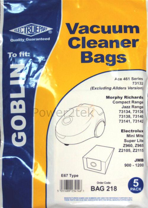 10 x E67 Dust Bags for VAX V077 Vacuum Cleaner NEW