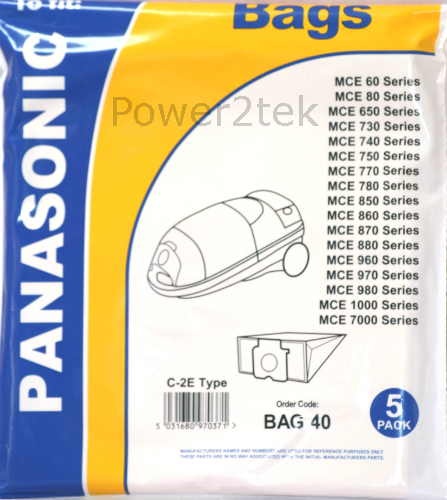 10 x c2e Sacchetti per aspirapolvere per Panasonic MCCG 485 MCCG 485k MCCG 487 HOOVER NUOVO