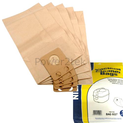 5 x gd sacs aspirateur pour nilfisk business CDB3000 CDB3050 GD910 hoover uk