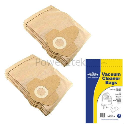 20 Litre 10 x sacs d/'aspirateur pour b/&q Performance Power PP20 1300 W Hoover