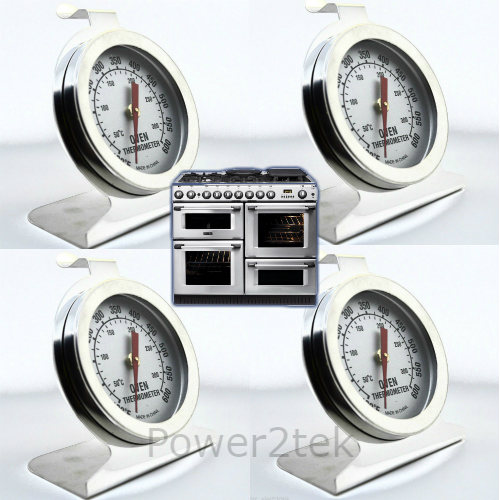 4x Ocean Oven Thermometer Stainless Steel Oven Cooker Temperature NEW