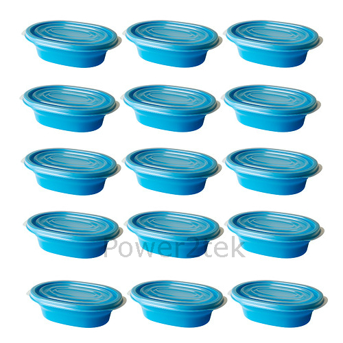 15 x ikea rata microwave safe plastic food container storage box with lid blue ebay. Black Bedroom Furniture Sets. Home Design Ideas
