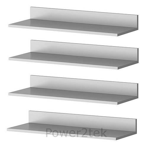 4 X Ikea Limhamn Stylish Stainless Steel Sleek Kitchen Wall Shelf Mount 60x20cm Ebay