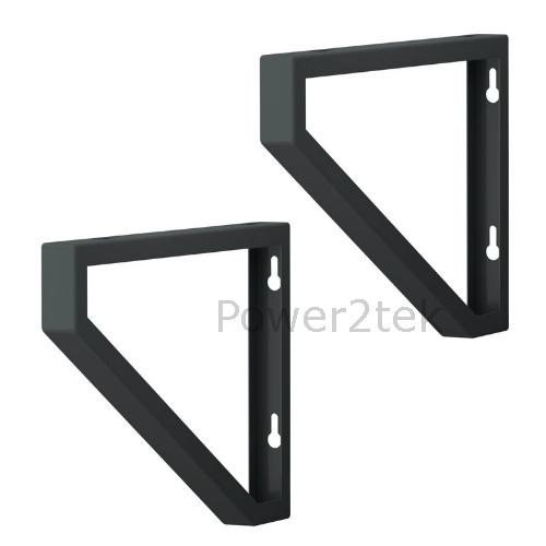 2 x ikea ekby lerberg 19cm 28cm metal wall shelf bracket for Ikea metal wall shelf