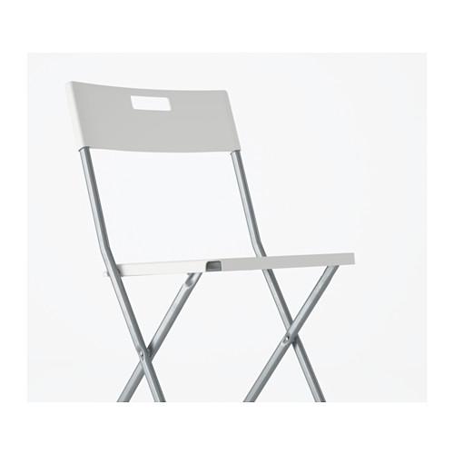 4 X IKEA GUNDE Folding Chair White Camping