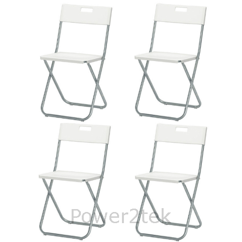 4 x ikea gunde klappstuhl wei camping wohnwagen garten haus b ro klappbar ebay. Black Bedroom Furniture Sets. Home Design Ideas