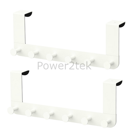 2 x ikea enudden over door 6 hooks knobs hanger washroom