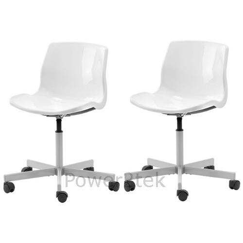 2 x ikea snille swivel home office computer desk work till chair white new uk ebay - Ikea uk computer desk ...